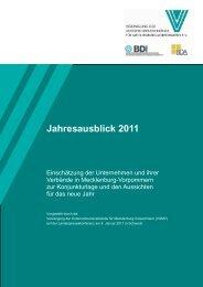 Jahresausblick 2011 - Vereinigung der Unternehmensverbände ...