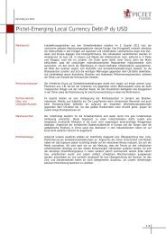 Pictet-Emerging Local Currency Debt-P dy USD - fundinfo.com