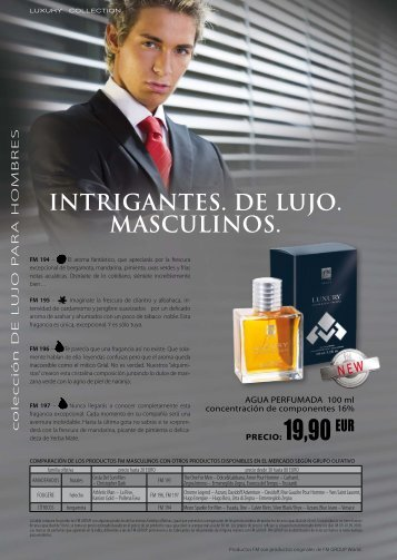 INTRIGANTES. DE LUJO. MASCULINOS. - FM GROUP