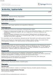 Arthritis, bakterielle - Engelhardt Lexikon Orthopädie und ...