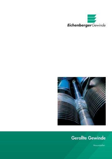 """""""Gerollte Gewinde / Masstabellen"""" (für Normprofile) - Eichenberger ..."""