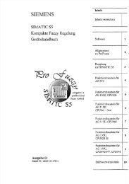 2. 'Allgemeines zur Kompakten Fuzzy Regelung - Siemens
