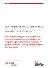 Der FremDvergleichsansatz - Erklärung von Bern