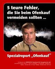 "Spezialreport ""Ofenkauf"" - Bullerjan"
