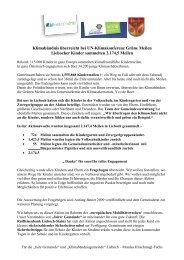 Klimabündnis überreicht bei UN-Klimakonferenz Grüne ... - Lieboch