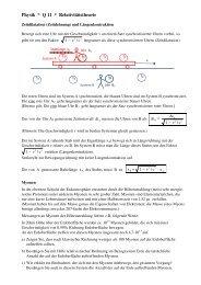 Zeitdilatation und Längenkontraktion