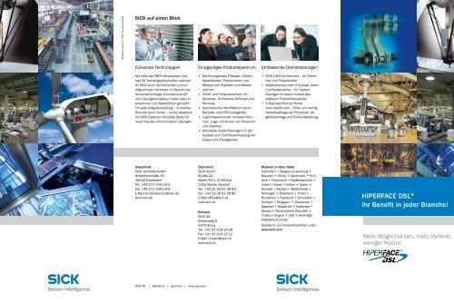 HIPERFACE DSL® Ihr Benefit in jeder Branche! - Sick