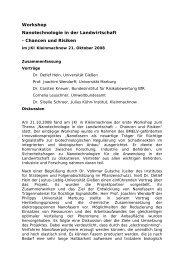Workshop Nanotechnologie in der Landwirtschaft - Julius Kühn ...