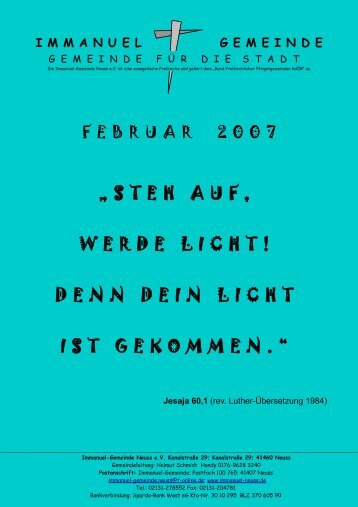 Februar 2007 - Immanuel Neuss