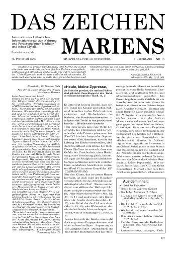 1. Jahrgang, Nr. 10, Februar 1968