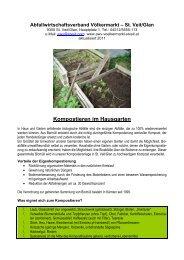 Kompostieren im Hausgarten - St. Veit