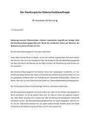 Der Hamburgische Datenschutzbeauftragte