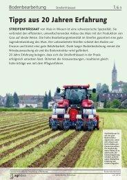 Streifenfrässaat: Tipps aus 20 Jahren Erfahrung - agrigate.ch