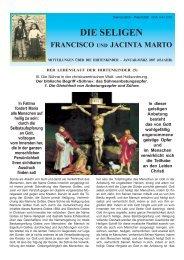 Mitteilungsblatt 1-2007 - Postulação de Francisco e Jacinta Marto