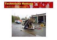 Technische Rettung - bei der Freiwilligen Feuerwehr Bindsachsen!