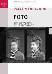 conservazione delle fotografie - Memoriav