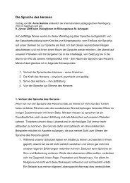 Die Sprache des Herzens, Vortrag Anna Gamma ... - cd mediateam