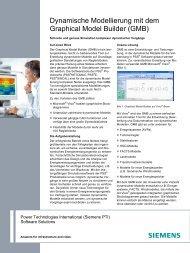 Dynamische Modellierung mit dem GMB - Siemens Energy