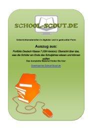 Portfolio Deutsch Klasse 7 (G9-Version): Übersicht ... - School-Scout
