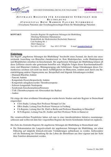 Deutschland - Internationales Register für schwere chronische ...