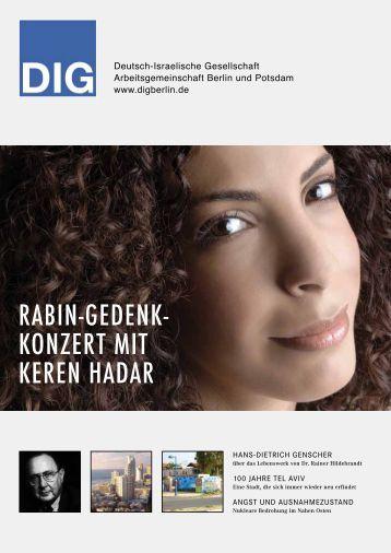 DIG-Konzert-Magazin 2009 - Deutsch-Israelische Gesellschaft ...