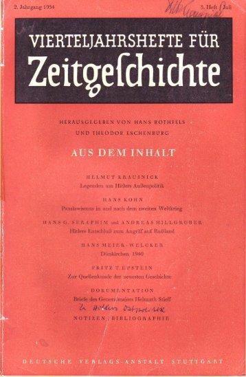 II. - Institut für Zeitgeschichte