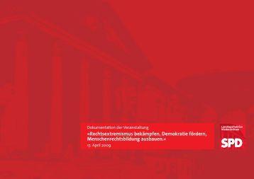 Dokumentation »Rechtsextremismus bekämpfen - SPD-Fraktion im ...