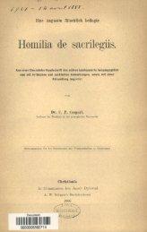 Eine Augustin falschlich beilegte Homilia de sacrilegiis