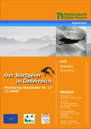 Bartgeier News Nr. 17/08 PDF-Datei - EGS Österreich