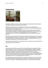 Villa Rocca konkret Individueller Möbelbau, Küchen und Bäder ...