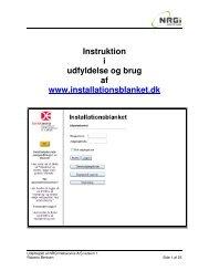 Instruktion i udfyldelse og brug af www ... - NRGI.dk