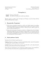 ¨Ubungsblatt 5 1 Dynamisches Programm 2 Nicht-uniforme Labels
