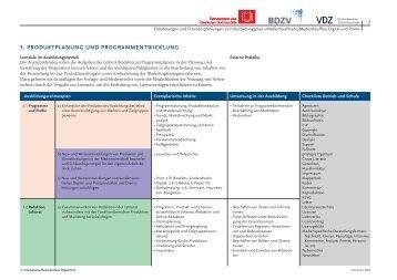 3. ProDuktPlAnung unD ProgrAMMentwicklung - VDZ