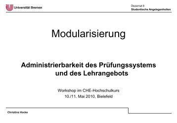 Vocke, Modularisierung (Acrobat-Datei) - Hochschulkurs