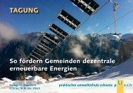 Pusch-Tagung - Cleantech Switzerland