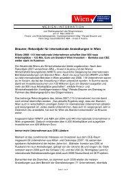 Brauner: Rekordjahr für internationale Ansiedlungen in Wien