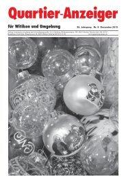Ausgabe 8, Dezember 2012 - Quartier-Anzeiger Archiv - Quartier ...