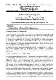 Calcium-sensing Rezeptor (FHH, ADH)