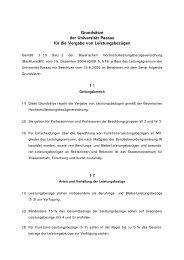 Grundsätze für die Vergabe von Leistungsbezügen - Academics.de