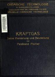 Kraftgas, seine Herstellung und Beurteilung