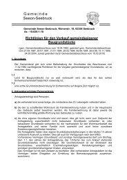 Richtlinien für den Verkauf gemeindeeigener ... - Seeon - Seebruck