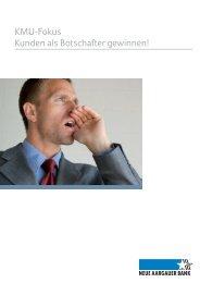 KMU-Fokus Kunden als Botschafter gewinnen! - Neue Aargauer Bank