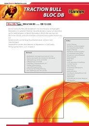Banner Batterien, Traction Bull Bloc Gel - Bode-Elektronik