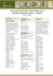 reimer - Gebr. Mann Verlag
