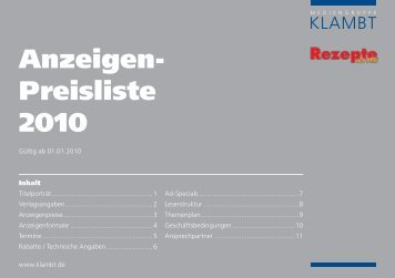 mit Pfiff - Klambt-Verlag
