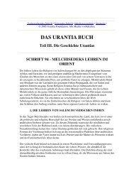 Das Urantia Buch - Schrift 94 - Melchisedeks Lehren im Orient