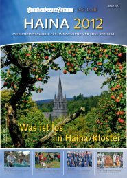 Was ist los in Haina/Kloster