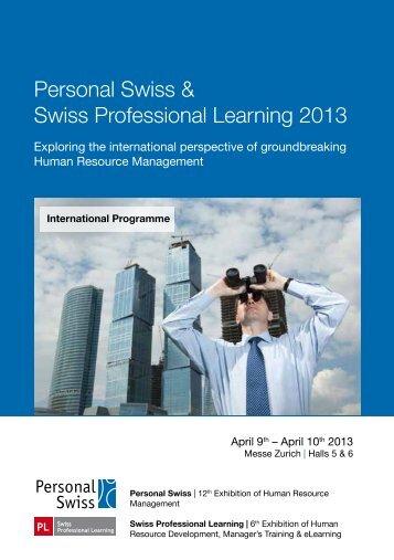 Personal Swiss & Swiss Professional Learning 2013