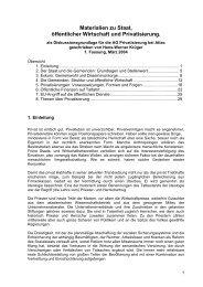 Materialien zu Staat, öffentlicher Wirtschaft und ... - attac Marburg