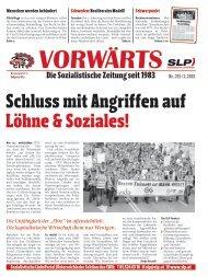 Schluss mit Angriffen auf Löhne & Soziales! - SLP